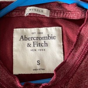 Abercrombie & Fitch Shirts - Abercrombie maroon soft muscle tee
